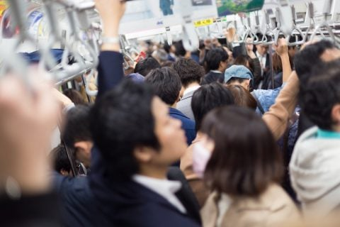 満員電車 通勤
