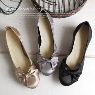 要出典 妊婦 マタニティ 結婚式 靴 アゲハリボンバレエパンプス