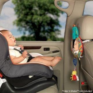 チャイルドシートのおもちゃ ブライトスターツ ベビーミラー シー&プレイオートミラー