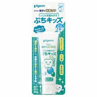 赤ちゃんの歯磨き粉 ピジョン 親子で乳歯ケア ジェル状歯みがき ぷちキッズ キシリトール