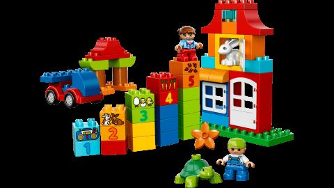 要出典 2歳 知育玩具 ブロックのおもちゃ レゴ デュプロ みどりのコンテナスーパーデラックス
