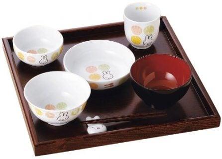 お食い初め用食器 ミッフィー イングレース 円(まどか) お食い初めセット