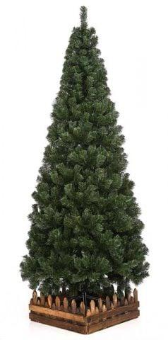 スリム濃緑 品質保証高級クリスマスツリー木枠付