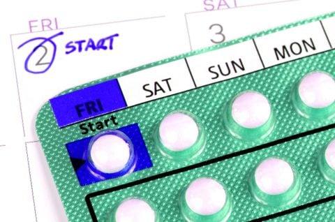 避妊 PMS 低用量ピル カレンダー