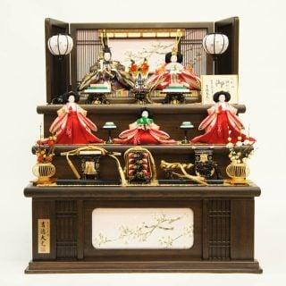 要出典 雛人形 吉徳 三段収納 五人飾り 御雛