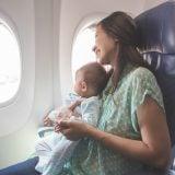 飛行機 赤ちゃん ママ