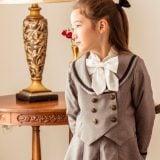要出典 入学式女の子スーツ キャサリンコテージ 丸襟セーラーのダブルボタンスーツ
