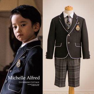要出典 卒園式の子供服 キャサリンコテージ ミッシェル アルフレッド パイピングスーツセット