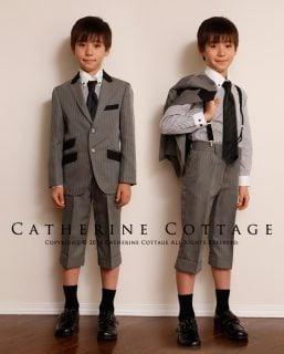要出典 卒園式の子供服 キャサリンコテージ ピーク襟ジャケットスーツ 4点セット