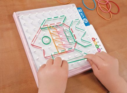 要出典 3歳女の子誕生日 くもん出版 わごむパターンボード