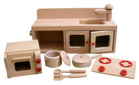 要出典 3歳女の子誕生日 木製おもちゃのだいわ ミニキッチンセット