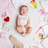 赤ちゃん 服 笑顔