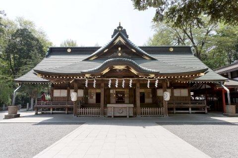 大國魂神社拝殿 東京 七五三
