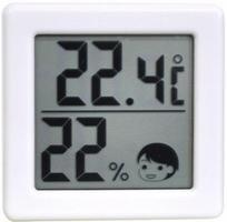 要出典 温湿度計 ドリテック 小さいデジタル温湿度計