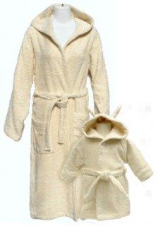要出典 ママのバスローブ 親子ペア オーガニックコットン バスローブセット
