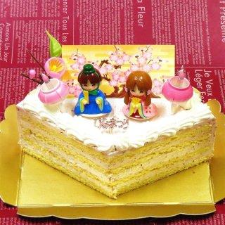 要出典 いちごクリームのひなまつり ひし形ケーキ