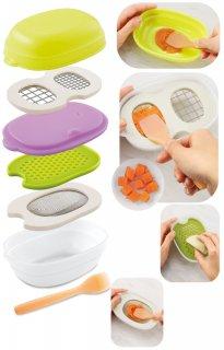 要出典 離乳食 調理器具 コンビ ベビーレーベル 離乳食ナビゲート 調理セットC