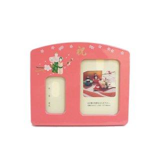 要出典 ひな祭りプレゼント ひな祭り 桃の節句用 オルゴール付き 写真立て(大)
