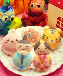 要出典 ひな祭りのお菓子 ロイヤルガストロ ひなまつり お絵かきマカロン 動物っこ 5個入