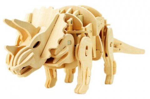 要出典 小学生のプレゼント 動く木製3Dパズルキットトリケラトプス