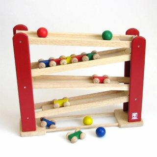 要出典 木製おもちゃ ニチガン くるくるスロープ BB38