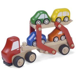 要出典 木製のおもちゃ カーキャリア トラック