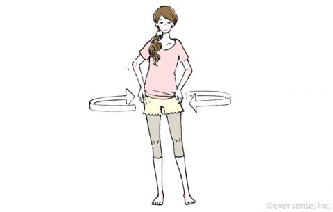 産後 骨盤体操 イラスト