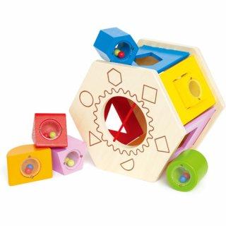 要出典 1歳誕生日女 ハペ社 シェイク&マッチ シェイプソーター