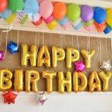 要出典 誕生日バルーン アルファベット型 バルーン HAPPY BIRTHDAY