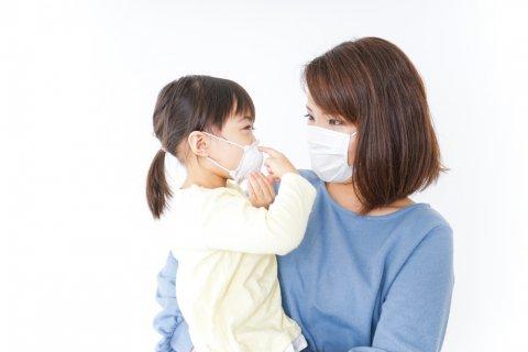 子供 マスク 風邪 予防 親子
