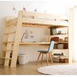 要出典 子供家具ショップ 木製 ロフトベッド  収納ラック付き 子供部屋