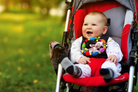 ベビーカー 赤ちゃん 快適 笑顔