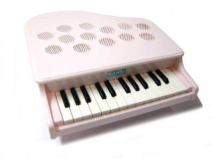 要出典 ピアノのおもちゃ KAWAI ミニピアノ P-25 ピンキッシュホワイト
