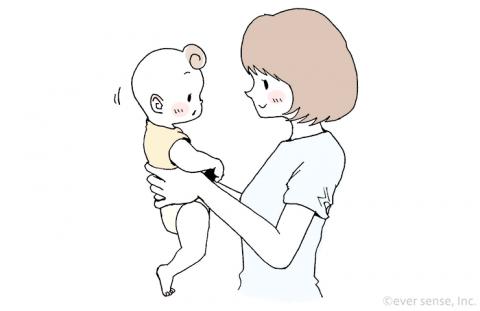赤ちゃん 首すわり 縦抱き eversense