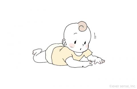 赤ちゃん 首すわり うつぶせ eversense