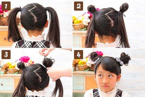 入学式 女の子 ヘアアレンジ おだんご
