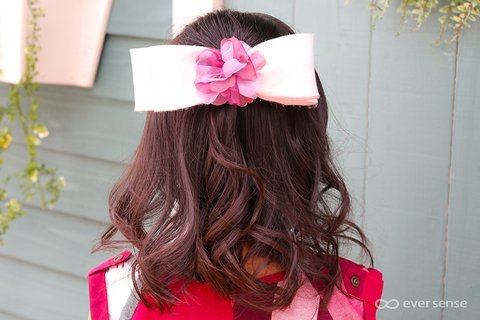 入園式 卒園式 女の子 ヘアアレンジ ハーフアップリボン