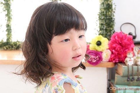 入園式 卒園式 女の子 ヘアアレンジ ナチュラルカール