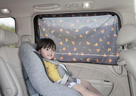 要出典 車のチャイルドシートの日よけ サンコー ハーモニーヒル 日よけカーテン