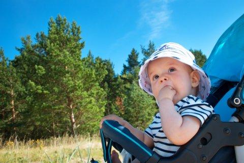 赤ちゃん 夏 ベビーカー