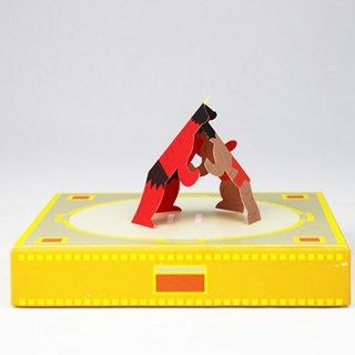 要出典 昔のおもちゃ トントン紙相撲