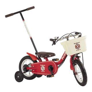 要出典 子供・幼児用自転車 ピープルじてんしゃ かじ取り式 12インチ スピネルレッド
