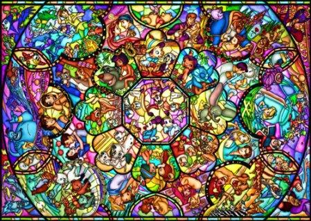 要出典 6歳 女の子 誕生日プレゼントテンヨー 2000ピース ジグソーパズル ディズニー オールスター ステンドグラス