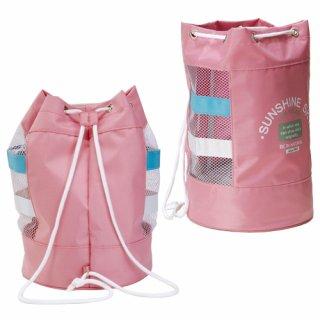 要出典 女の子プールバッグ アイセック スクール水泳用品 メッシュ型スイミングバッグ