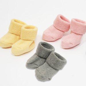 要出典 ベビー靴下 育児工房 オーガニックコットン 洛陽染やわらかフィットパイルソックス