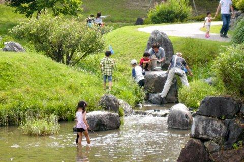 要出典 じゃぶじゃぶ池 けいはんな記念公園 京都府相楽郡