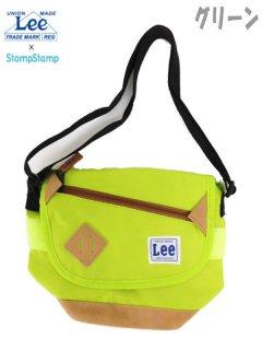 要出典 キッズポシェット Lee×StompStamp 斜めジップ 子供用ショルダーバッグ