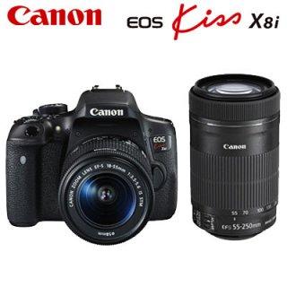 デジタル一眼レフカメラ キャノン デジタル一眼レフカメラ EOS Kiss X8i ダブルズームキット