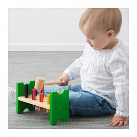 要出典 IKEA MULA おもちゃ ハンマートイ マルチカラー