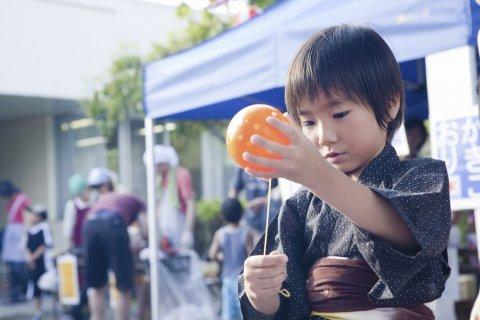 男の子 甚平 夏 祭り 浴衣 ヨーヨー